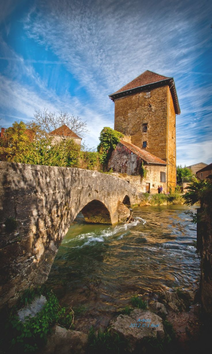"""""""Arbois, France - Come for the vaunted Jura wine, stay for the medieval streets, houses, chateaus, and towers, as well as the lovely grottoes and waterfalls just outside town.""""  Photo: Sébastien Riat via 40 of the last storybook towns left in Europe - Matador Network"""