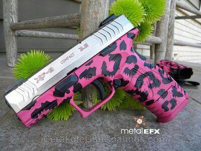 Pink lepoard gun