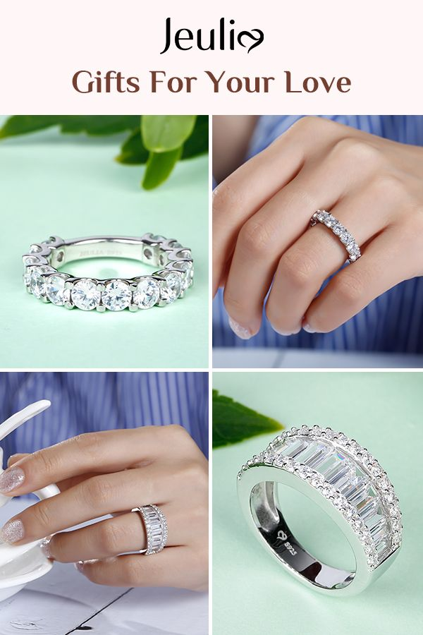Simple And Elegance Sterling Silver Women S Bands Of Jeulia