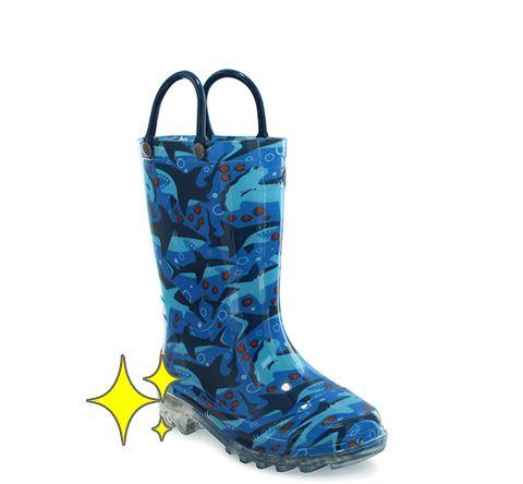 Kids Shark Chase Lighted Rain Boot - Blue