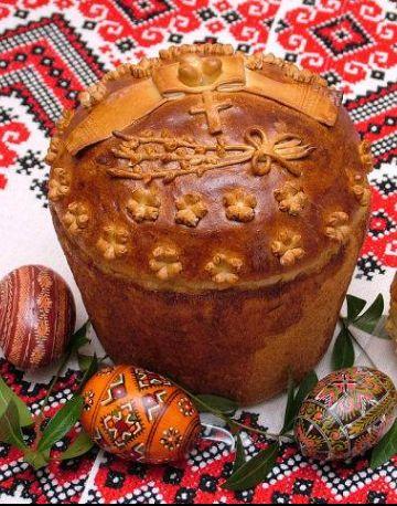 Paska for Easter and Easter Pisanki