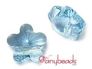Aquamarine Swarovski Crystal Elements 5744 Flower Bead 6mm  #aquamarine #Swarovski #crystalbead #bead #5744 #jewelrysupplies #anybeads
