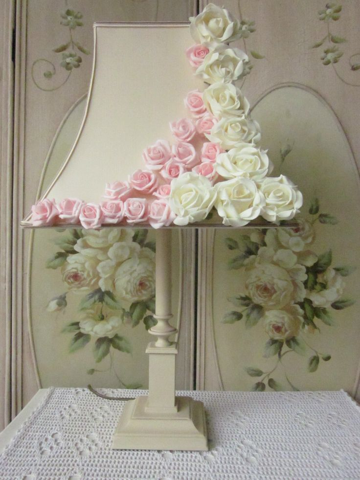 Shabby chic lamp,Annie Sloan Old Ochre