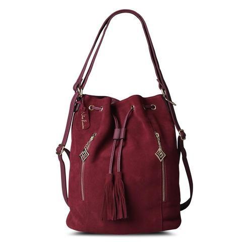 [EBay] Nico Louise Women Real Split Suede Leather Bucket Bag,Lady Leisure Nubuck Casual Shoulder Bags Large Hobo Travelling Handbag Sac