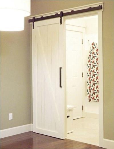 Die besten 25+ Tür auf einer Schiene Ideen auf Pinterest - glastür badezimmer blickdicht