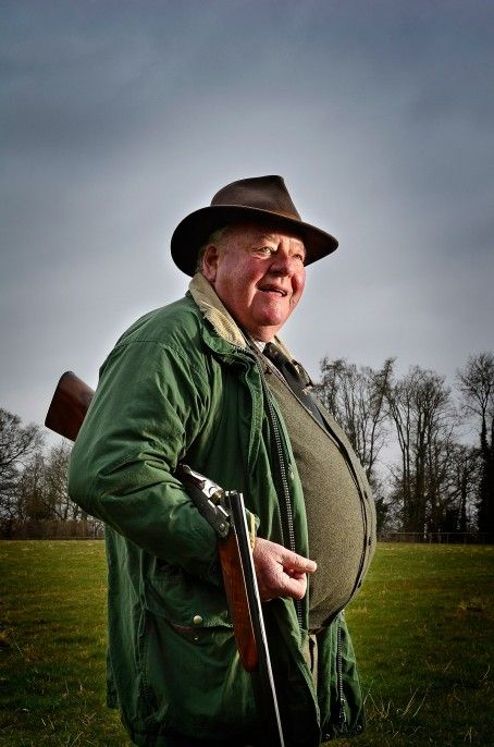 Former coal miner John Parton with one of his shotguns at Tenbury Wells, Worcestershire, 13th April 2013. Photo by John Robertson, for The Daily Telegraph.  Here's looking at you – editorial photographer John Robertson's tips for environmental portraiture. #portrait #photography #photo