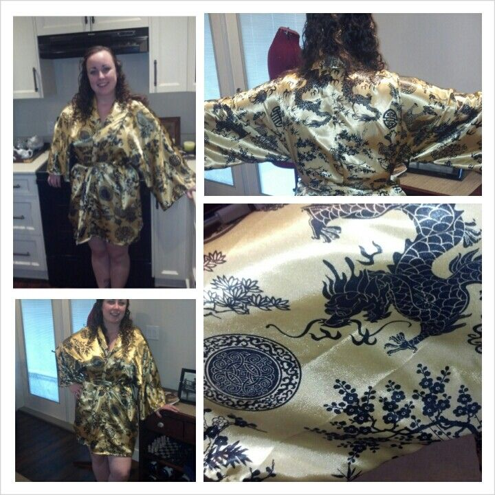 My Hollywood inspired dressing robe on synthetic silk. Vintage pattern find (thanx value village) altered for length :) #twefthletterapparel