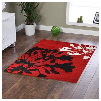 Agapanthus Bud Print Red Tufted Rug Network Rugs | Wayfair