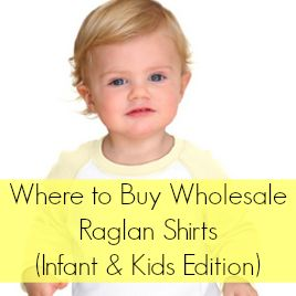Raglan style shirts are popular with Silhouette Cameo and Cricut crafters, and this article offers a great wholesale supplier for cheap. This is the kids edition for infant, toddler, and kids sizes.