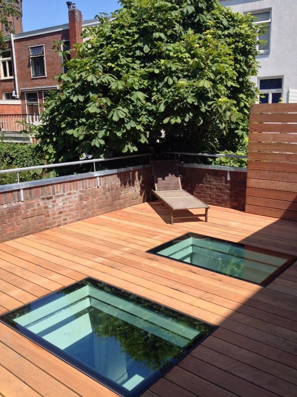 Our Flushglaze Walk-on Rooflights - perfect for flat roof terraces!