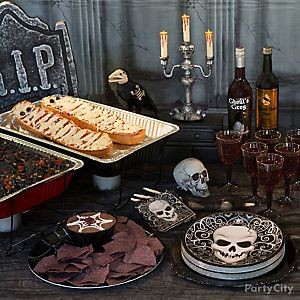 Savory Halloween Buffet Table Idea
