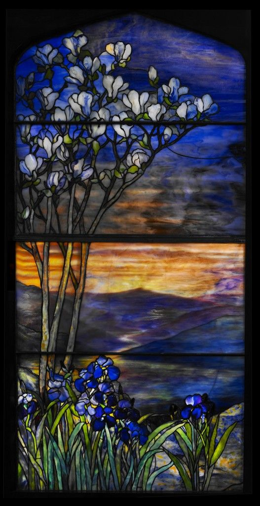 Louis Comfort Tiffany, River of Life window, early 20th Century, leaded glass More
