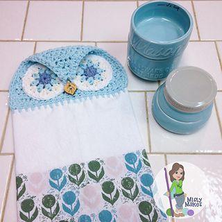 Crochet owl towel pattern by Misty Makes