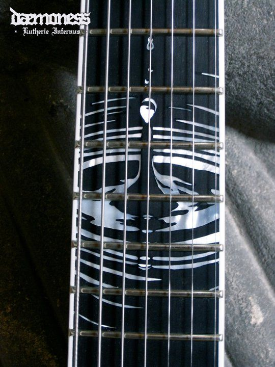 Daemoness guitars neck inlay