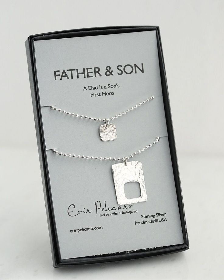 Christmas Gift For Him Dad Father Son Gifts Birthday New Ideas Daddy And Me Silver Mens Jewelry Forhim