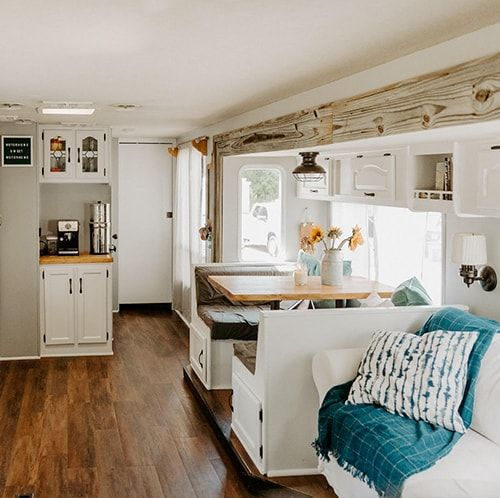 Tour this modern RV renovation with old world charm!