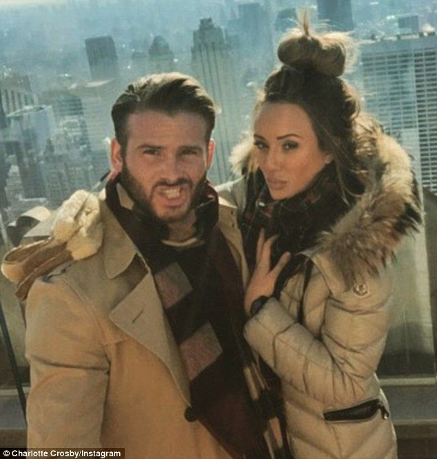 Big love: Charlotte Crosby, pictured with her on-off boyfriend Mitch Jenkins in New York C...