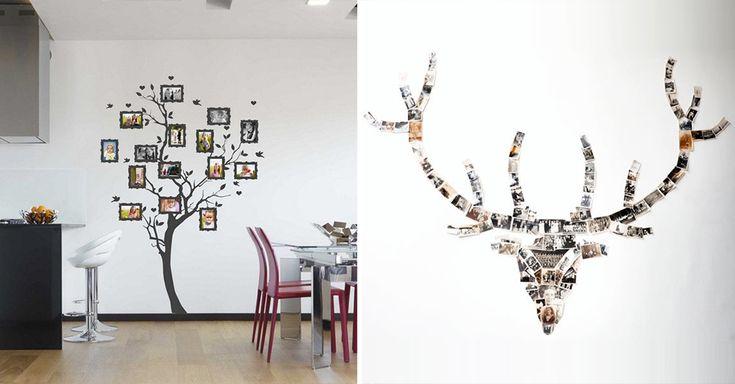 Inspiratie voor een creatieve fotocollage tegen de muur comme chez nous pinterest muur - Deco originele muur ...