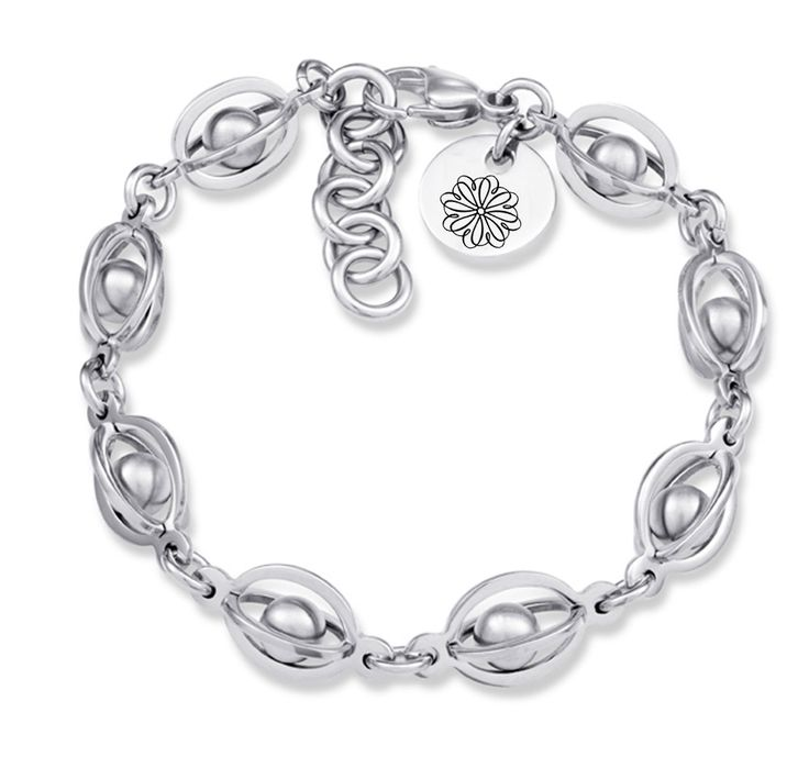 Sigma Kappa Symbol Stainless Steel Birdcage Style Bracelet