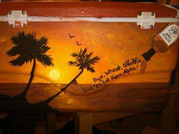 another beach scene idea for painting cooler...seal with ModPodge