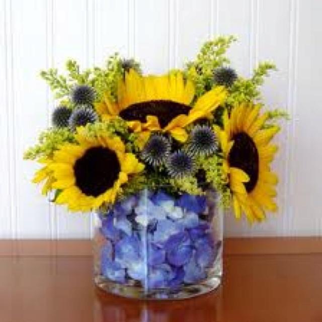 Sunflower Arrangement Floral Ideas Pinterest