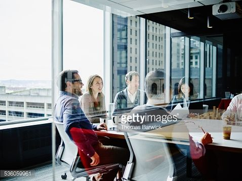 Stock Photo : Businesspeople meeting in office conference room