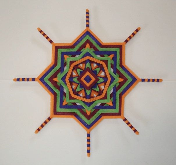 Radiant Joy  Ojo de Dios  Yarn Mandala by HighDesertBohemian, $38.00