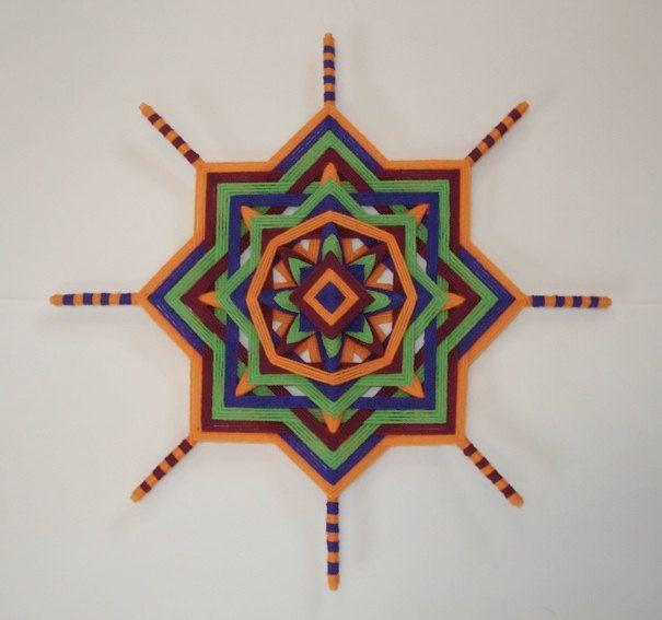 Radiant Joy Ojo de Dios Yarn Mandala by HighDesertBohemian, $38.00
