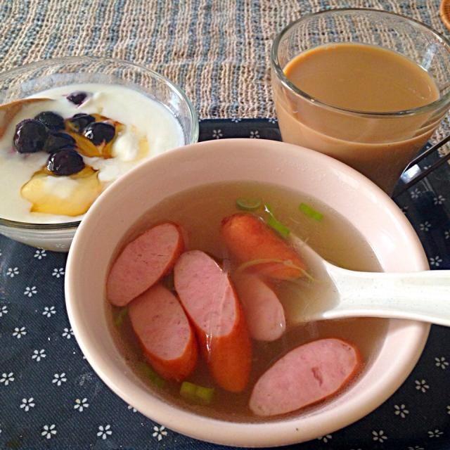 生姜入れ過ぎたっΣ(´☉ω☉`) - 2件のもぐもぐ - 生姜と春雨のスープ、カスピ海ヨーグルト ブルーベリー入り by きりこ