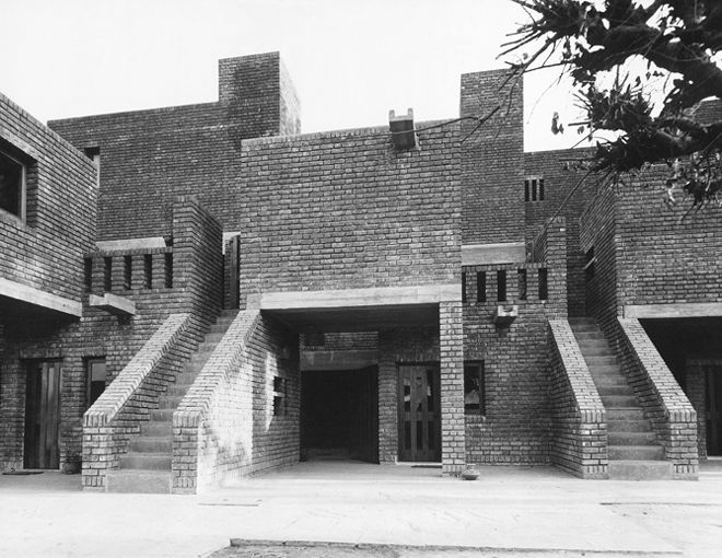 Housing for French Embassy Staff Quarter 1967 New Delhi India
