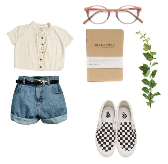 """Untitled #63"" by vivi-g6 on Polyvore featuring Vans, myPetsQuare, Ace, Retrò, StreetStyle, vans, shorts, glasses and plant"