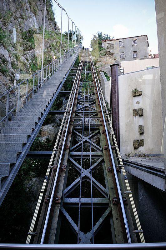 funicular in Porto, Portugal