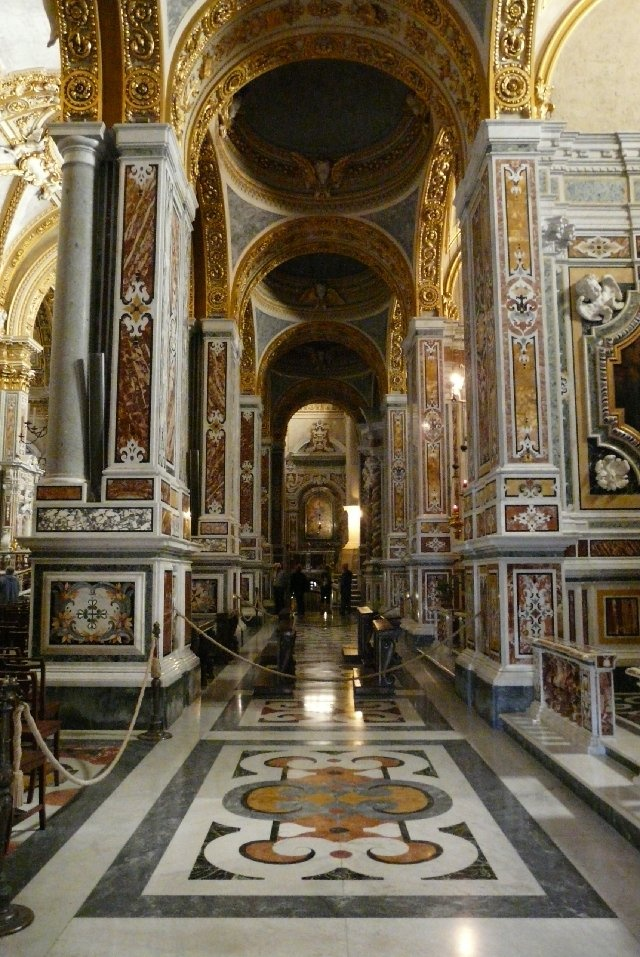 The rebuilt Basilica Cathedral of the abbey of Monte Cassino in Cassino, Italy