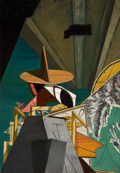 Giorgio de Chirico Italian, 1888–1978 The Pirate (Le Corsaire) 1916 Oil on canvas 31 5/8 x 22 1/4 in. (80.3 x 56.5 cm) http://anonimodelapiedra.blogspot.com.es