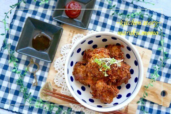 桃咲マルク's dish photo 簡単 混ぜて揚げるだけ もやしのカリカリジューシーなミンチカツ風 | http://snapdish.co #SnapDish #レシピ