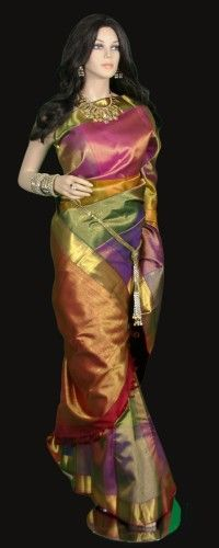 Multi Color Kanjeevaram Saree