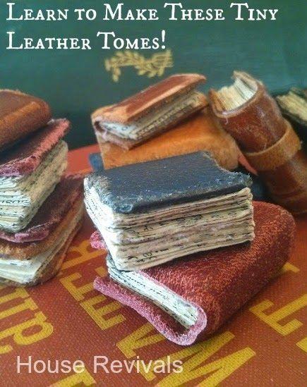 House Revivals: Make These Easy Mini-Book Pendants!