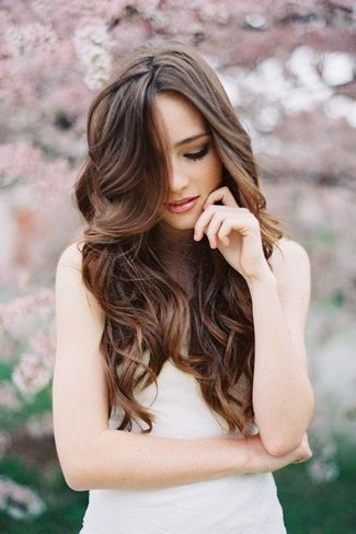 20 Long Wedding Hairstyles 2013 | Confetti Daydreams | wavy long-haired look with subtle ombre ends creates a natural and timeless hairstyle.