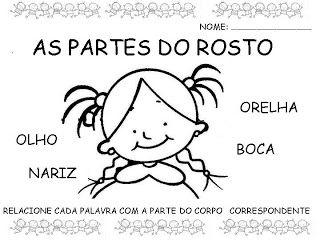 ATIVIDADES NOSSO CORPO | Cantinho do Educador Infantil