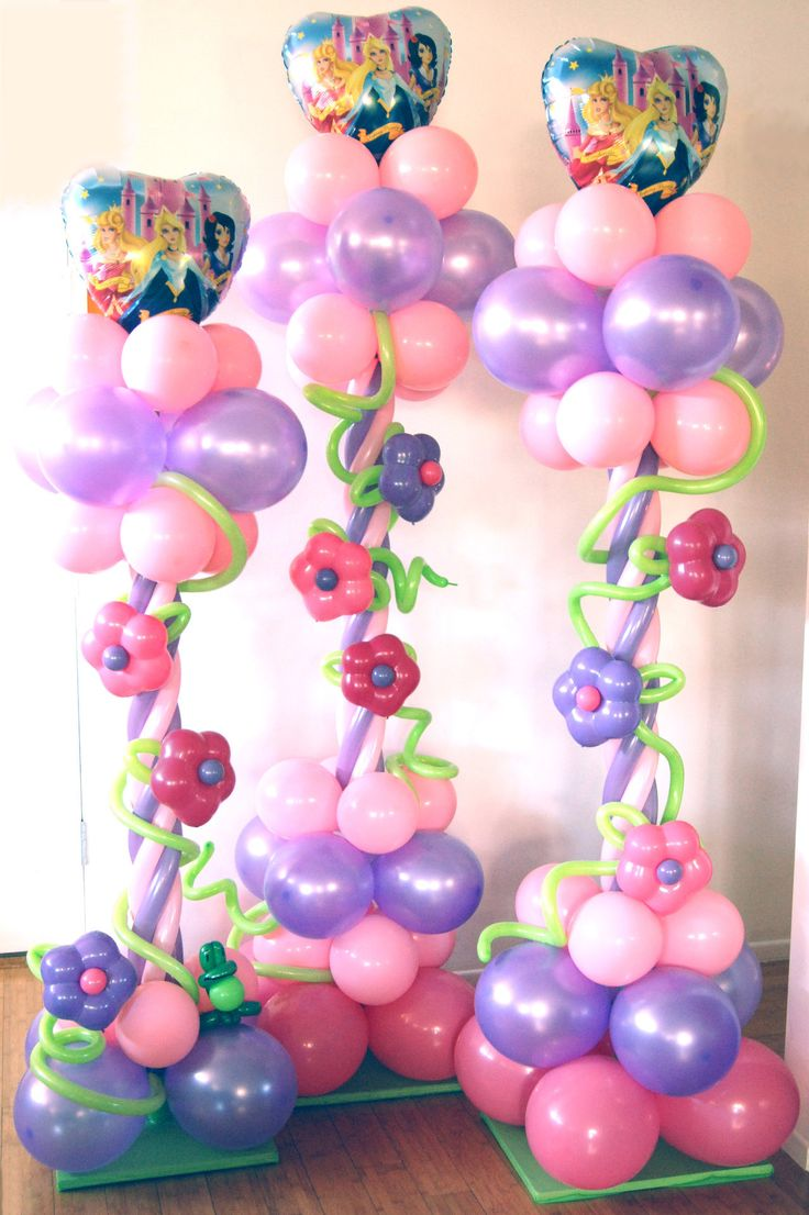 balloon twisting for baby shower | Princess columns