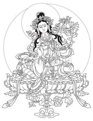 outlines of tibetan thangka drawings Google Search