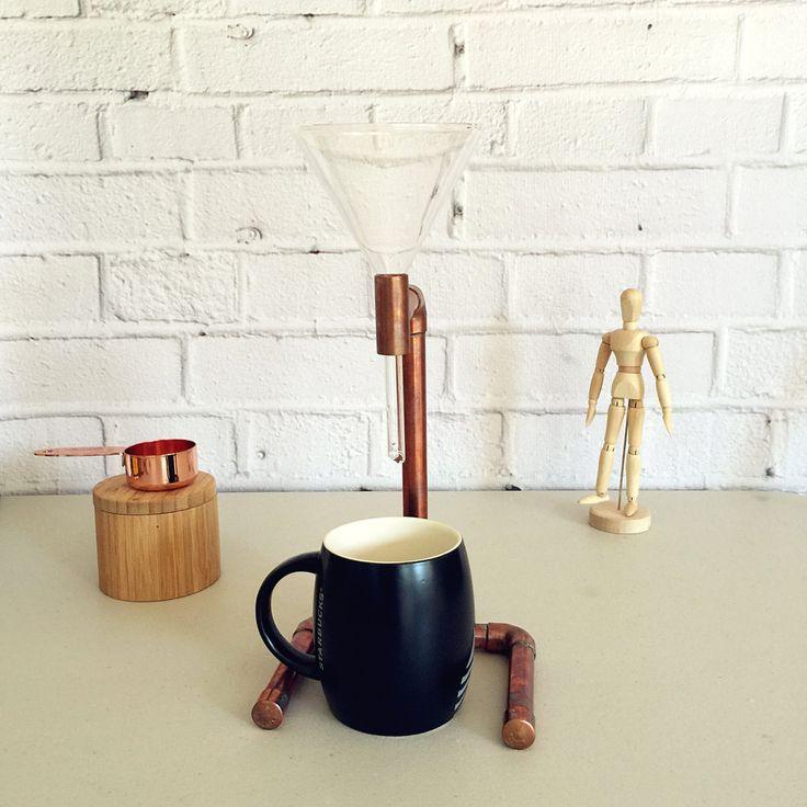 pour over coffee maker coffee dripper copper pipe coffee maker industrial coffee maker rose gold coffee - Industrial Coffee Maker