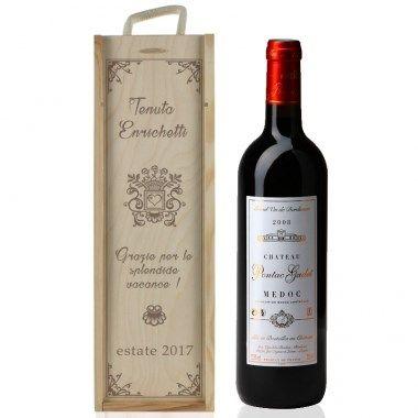 Cassa/cofanetto per vino personalizzata