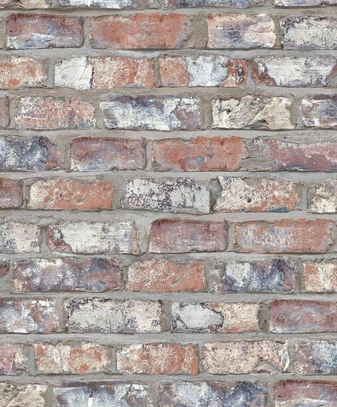 Bakstenen vliesbehang van Dutch Wallcoverings uit de collectie Exposed Warehouse. Kleur: Hoge kwaliteit behang met stoere en trendy patronen. Nu voor 32.95 per rol. Artikelnummer: EW310.
