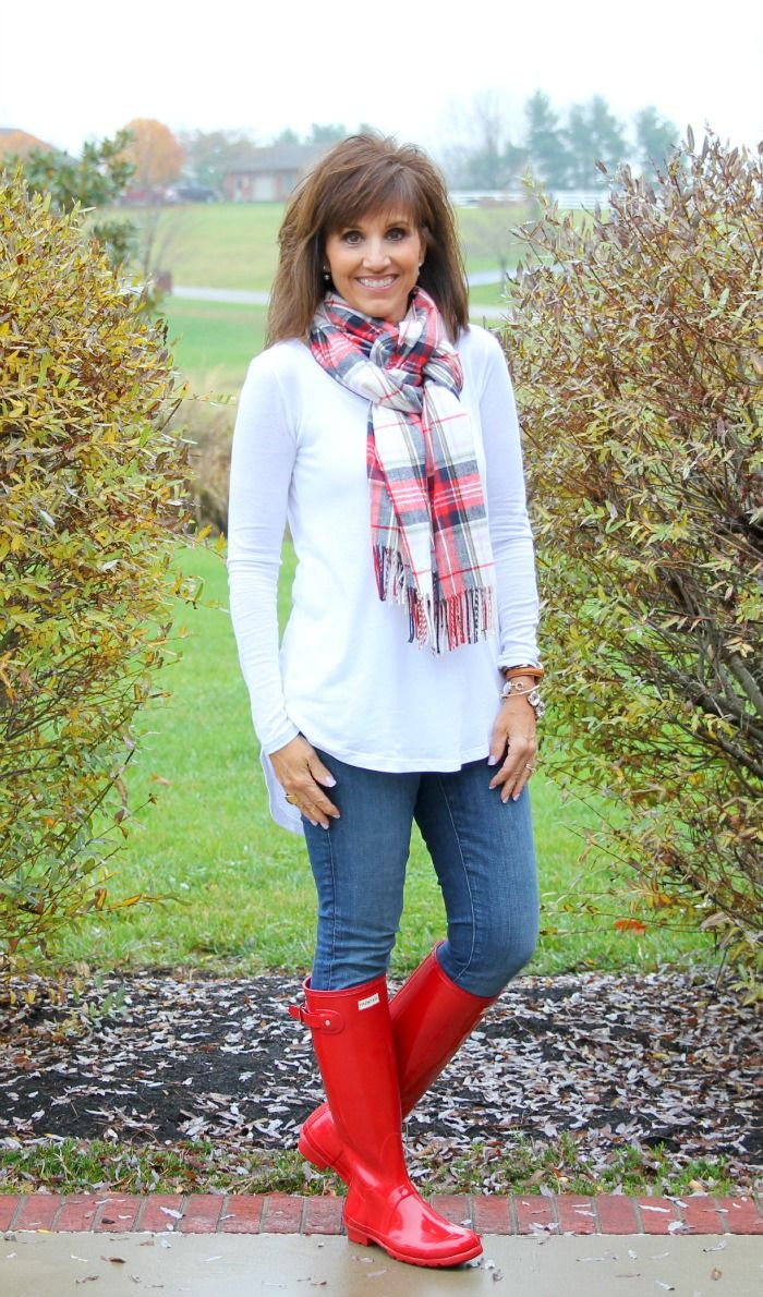 Sharing some Christmas spirit today with my Red hunter boots!