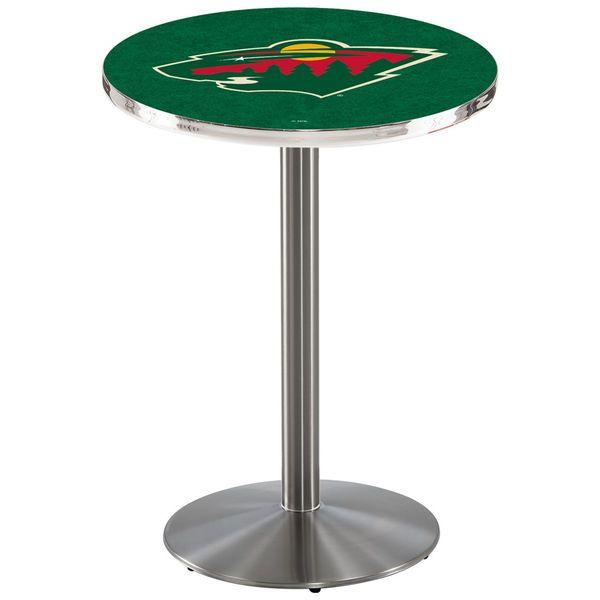 "Minnesota Wild 36"" Round Foot Stainless Pub Table - $449.99"
