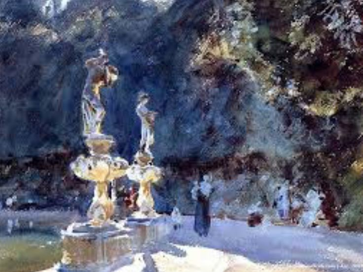 Sargent, Fountain at the Boboli Gardens