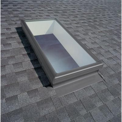 Velux 22 1 2 In X 46 1 2 In Fixed Curb Mount Skylight