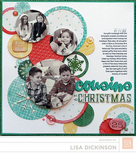 #papercraft #scrapbook #layout.  Evergreen - Basic Grey : Gallery : A Cherry On Top