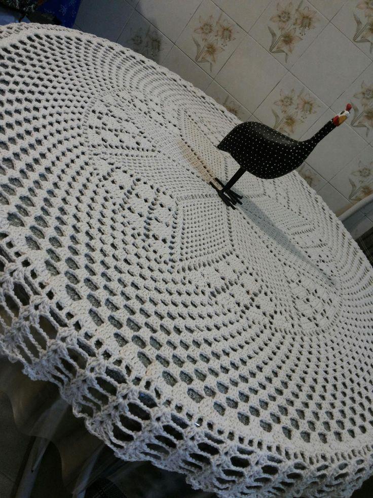 Canto do Pano Artesanato: Toalha de mesa redonda crochê com gráfico
